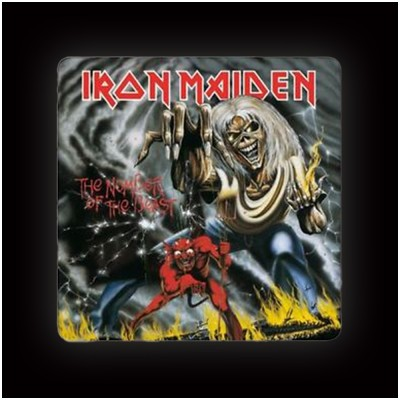 Iron Maiden Number of the Beast Coaster (single)