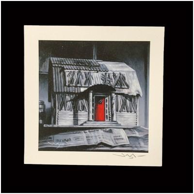 Jason Edmiston Signed Print - Nightmare on Elm Street Thompson Model House