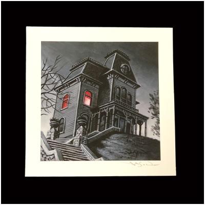 Jason Edmiston Signed Print - The Psycho Bates House
