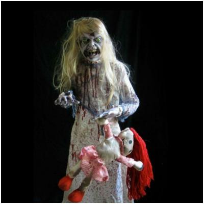 Lifesize Zombie Girl Prop