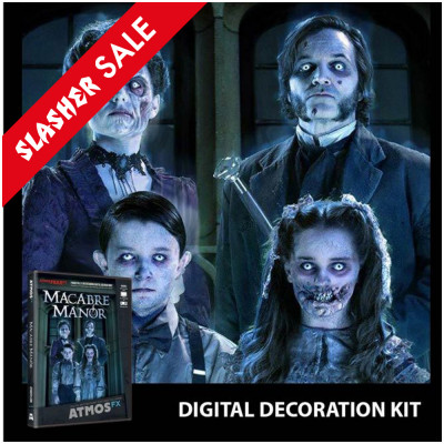 Digital Halloween Decorations Projector Kit + Macabre Manor DVD (15)