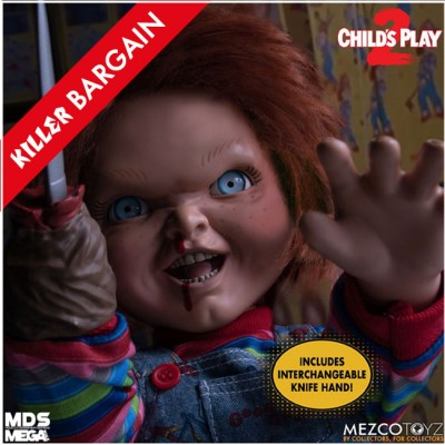 MEZCO MDS Mega Scale Child's Play 2 Talking Menacing Chucky - KILLER BARGAIN