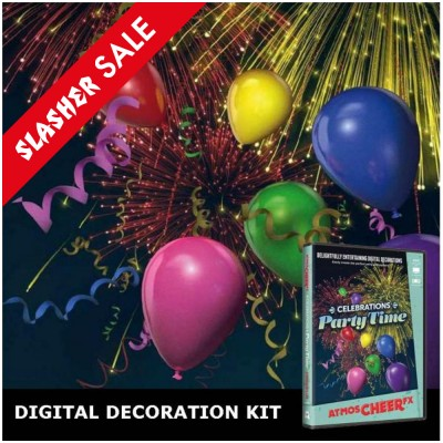 Christmas Decorations Projector Kit + AtmosCheer Party Time DVD SALE
