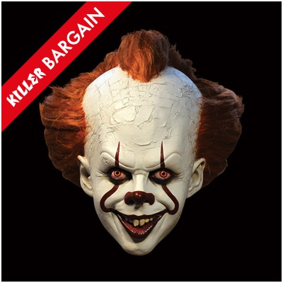 IT - Deluxe Pennywise Mask - KILLER BARGAIN