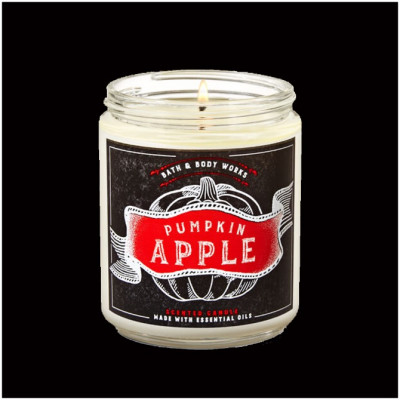 Bath & Body Works Single Wick Candle - Pumpkin Apple