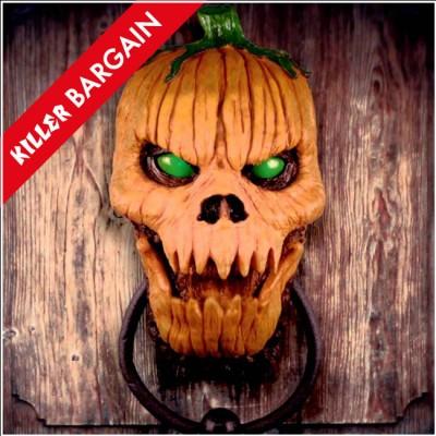 Animated Pumpkin Door Knocker - KILLER BARGAIN