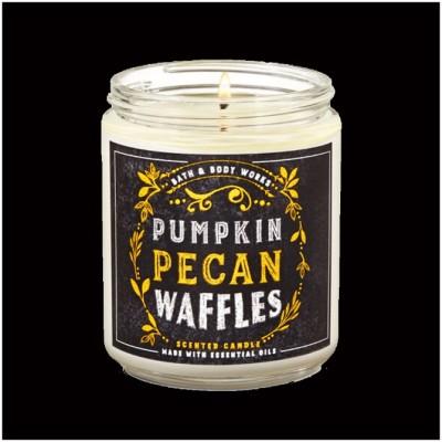 Bath & Body Works Single Wick Candle - Pumpkin Pecan Waffles