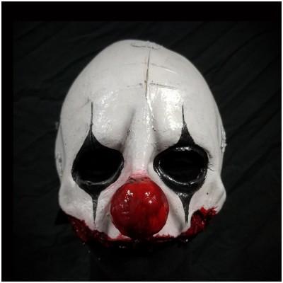 Clown Quarter Mask - B&W