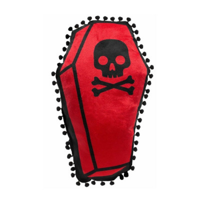 Sourpuss Coffin Shaped Cushion