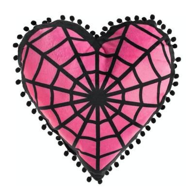 Sourpuss Webbed Heart Shaped Cushion