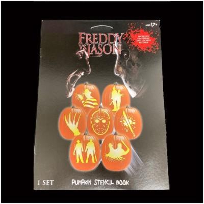 Spirit Halloween - Pumpkin Stencil Book - Freddy vs Jason Stencil