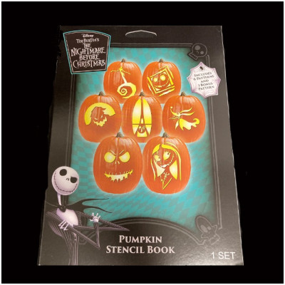 Spirit Halloween - Pumpkin Stencil Book - The Nightmare Before Christmas