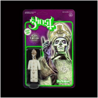 SUPER 7 Ghost ReAction Figure - Papa Emeritus III Glow in the Dark