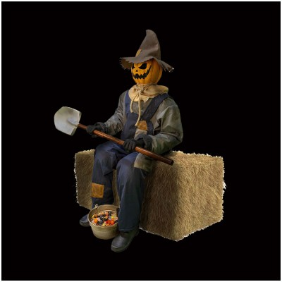 Smiling Jack Animated Scarecrow