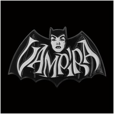 Vampira Retro Bat White Pin