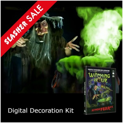 Halloween Digital Decorations Projector Kit + AtmosFX Witching Hour DVD (PG)