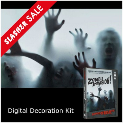 Digital Halloween Decorations Projector Kit + Zombie Invasion DVD (15)