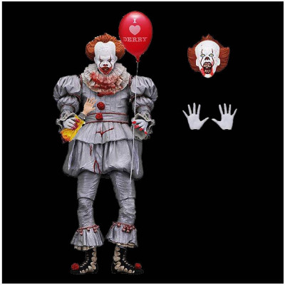 NECA Ultimate Pennywise I Heart Derry Figure