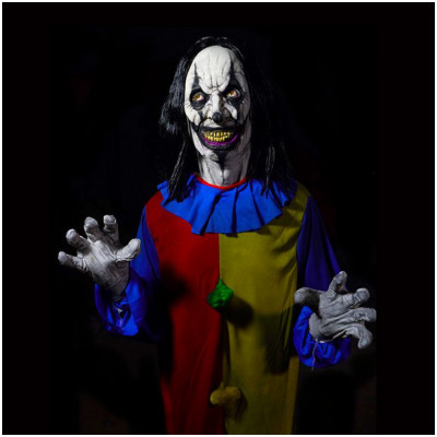 Animated Crazy Clown Prop