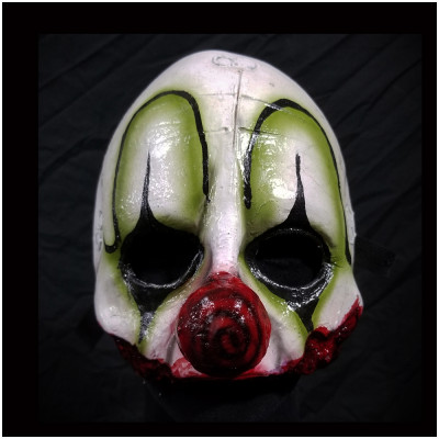 Clown Quarter Mask - Green