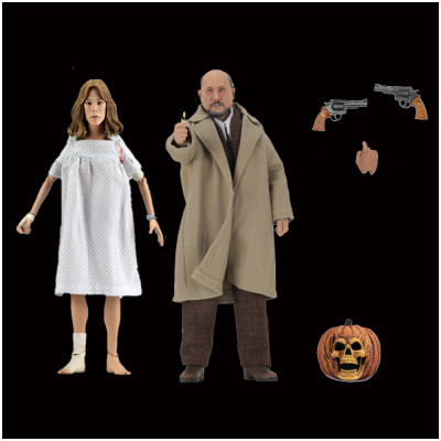 "NECA Halloween 2 - 8"" Clothed Dr Loomis and Laurie Strode 2 Set"