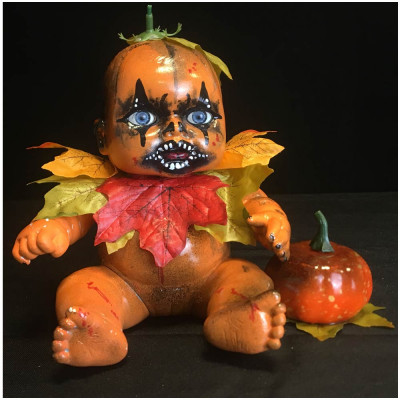 OOAK Horror Doll - Pumpkin Baby
