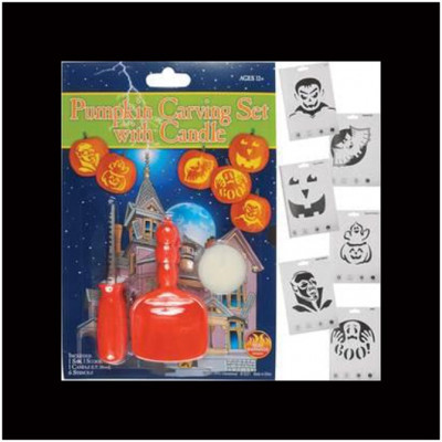 Pumpkin Carving Kit with Candle