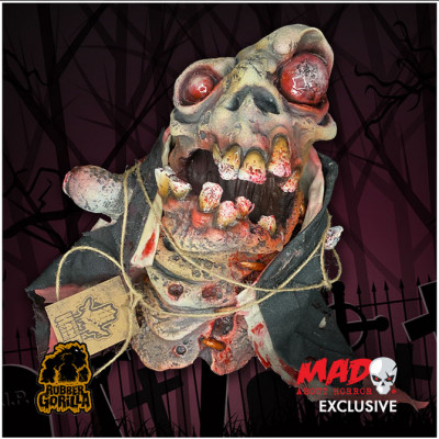 Rubber Gorilla Horrid Hand Gang - Corpsey Hand Puppet - Mad About Horror Exclusive